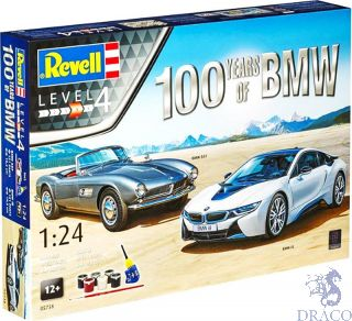 100 Years of BMW 507 + i8 Gift Set 1/24 [Revell]