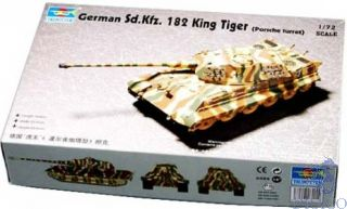 German Sd.Kfz. 182 King Tiger (Porsche Turret) 1/72 [Trumpeter]