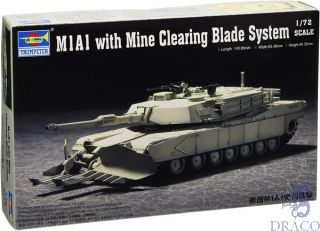 M1A1 with Mine Clearing Blade System 1/72 [Trumpeter]