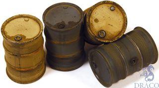 Vallejo Diorama Accessories 202: German Fuel Drums #2 (4 pcs.) 1/35