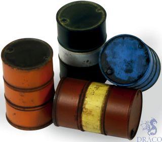 Vallejo Diorama Accessories 204: Modern Fuel Drums (4 pcs.) 1/35