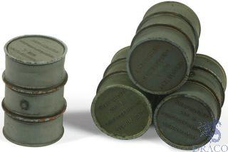 Vallejo Diorama Accessories 205: Wehrmacht Fuel Drums (4 pcs.) 1/35