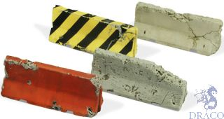 Vallejo Diorama Accessories 215: Damaged Concrete Barriers (4 pcs.) 1/35