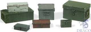 Vallejo Diorama Accessories 223: Universal Metal Cases (7 pcs.) 1/35