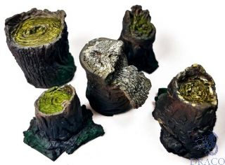 Vallejo Diorama Accessories 306: Small Stumps (5 pcs.) 1/35