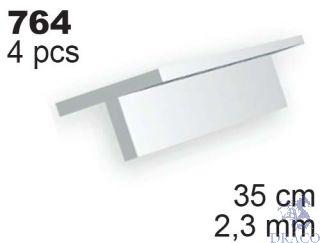 Evergreen 764: Profil T výšky 2,3 mm (35 cm)(4 ks)