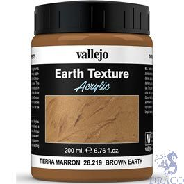 Vallejo Diorama Effects 219: Brown Earth 200 ml.