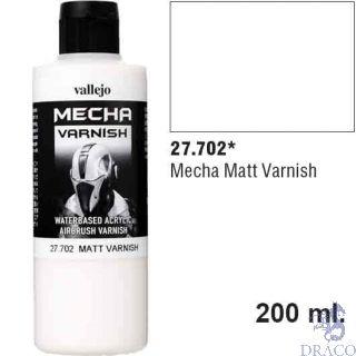 Vallejo Mecha Varnish 702: Matt Varnish 200 ml.