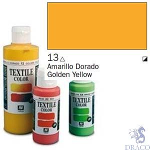 Vallejo Textile Color 013: Golden Yellow 60 ml.