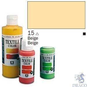 Vallejo Textile Color 015: Beige 60 ml.