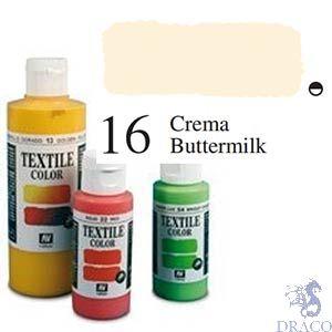 Vallejo Textile Color 016: Cream 60 ml.