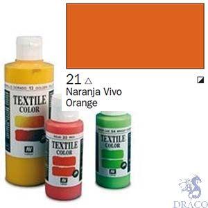 Vallejo Textile Color 021: Orange 60 ml.