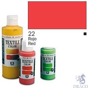 Vallejo Textile Color 022: Red 60 ml.