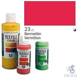 Vallejo Textile Color 023: Vermilion 60 ml.