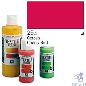 Vallejo Textile Color 025: Cherry Red 60 ml.