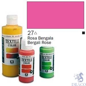 Vallejo Textile Color 027: Rose 60 ml.