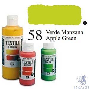 Vallejo Textile Color 058: Apple Green 60 ml.