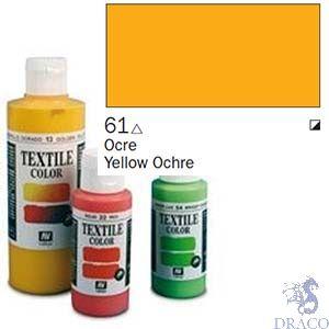 Vallejo Textile Color 061: Ochre 60 ml.
