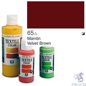 Vallejo Textile Color 065: Dark Brown 60 ml.