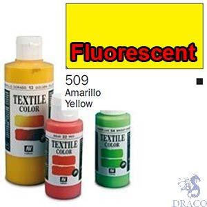 Vallejo Textile Color 509: Fluorescent Yellow 60 ml.