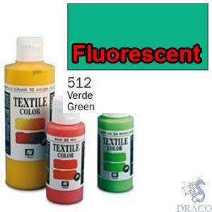 Vallejo Textile Color 512: Fluorescent Green 60 ml.