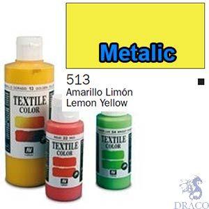 Vallejo Textile Color 513: Metalic Yellow 60 ml.