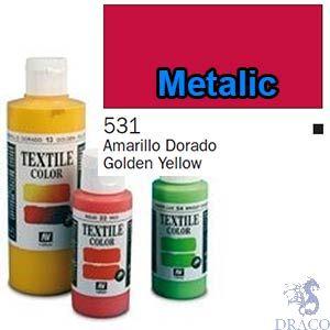 Vallejo Textile Color 531: Metalic Red 60 ml.