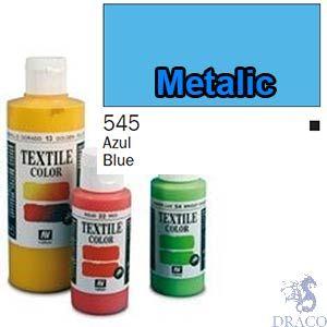 Vallejo Textile Color 545: Metalic Blue 60 ml.