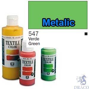 Vallejo Textile Color 547: Metalic Green 60 ml.