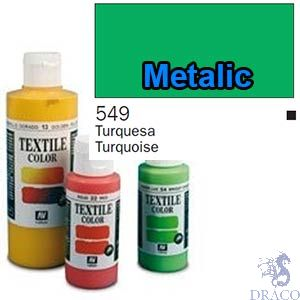 Vallejo Textile Color 549: Metalic Turquoise 60 ml.