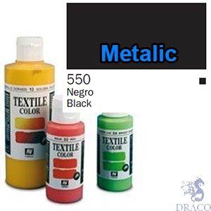 Vallejo Textile Color 550: Metalic Black 60 ml.