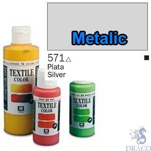 Vallejo Textile Color 571: Metalic Silver 60 ml.