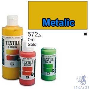Vallejo Textile Color 572: Metalic Gold 60 ml.