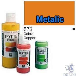 Vallejo Textile Color 573: Metalic Copper 60 ml.