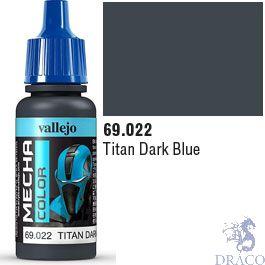 Vallejo Mecha Color 022: Titan Dark Blue 17 ml.