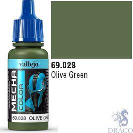 Vallejo Mecha Color 028: Olive Green 17 ml.