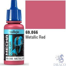 Vallejo Mecha Color 066: Metallic Red 17 ml.