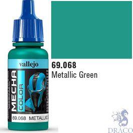 Vallejo Mecha Color 068: Metallic Green 17 ml.