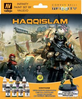 Vallejo Infinity Paint Set 237: Haqqislam (8 colors with exclusive minifigure)