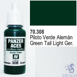 Vallejo Panzer Aces 308: Green Tail Light 17 ml.