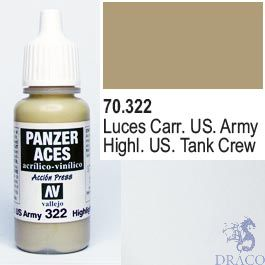 Vallejo Panzer Aces 322: US. Army Tanker Highlights 17 ml.
