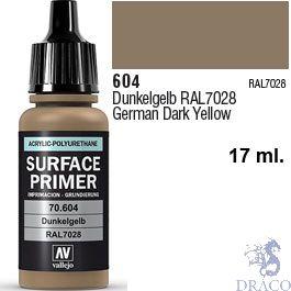 Vallejo Acrylic Polyurethane Primer - German Dark Yellow 17 ml.
