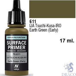 Vallejo Acrylic Polyurethane Primer - IJA Tsuchi-Kusa-IRO - Earth Green (early) 17 ml.