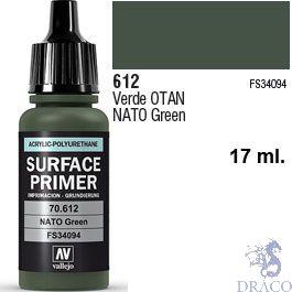 Vallejo Acrylic Polyurethane Primer - Nato Green 17 ml.