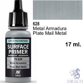 Vallejo Acrylic Polyurethane Primer - Plate Mail Metal 17 ml.