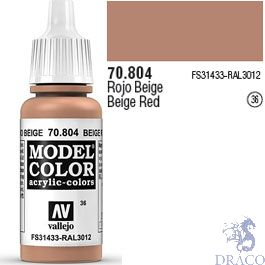 Vallejo 036: Modelcolor 804: Beige Red 17 ml.