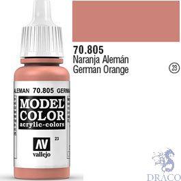 Vallejo 023: Modelcolor 805: German Orange 17 ml.