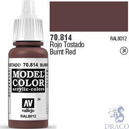 Vallejo 034: Modelcolor 814: Burnt Red 17 ml.