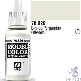 Vallejo 004: Modelcolor 820: OffWhite 17 ml.