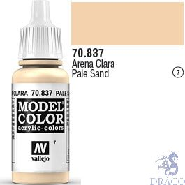 Vallejo 007: Modelcolor 837: Pale Sand 17 ml.